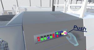 opération maintenance en réalité virtuelle - interaction avec bouton - superba